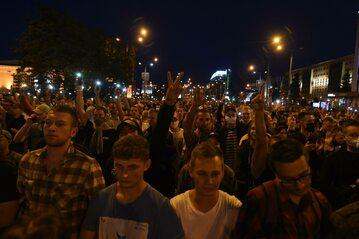 Powyborczy protest na Białorusi