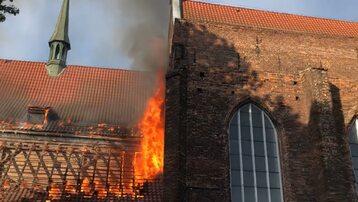 Pożar kościoła św. Piotra i Pawła w Gdańsku