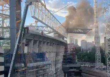 Pożar na Santiago Bernabeu
