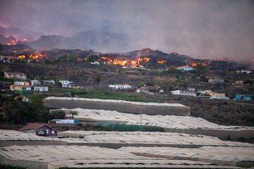 Pożary po erupcji wulkanu Cumbre Vieja na wyspie La Palma