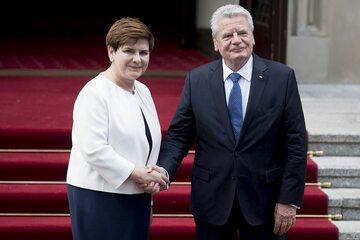 Premier Beata Szydło i prezydent Joachim Gauck