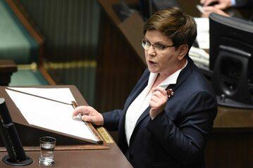 Premier Beata Szydło podczas debaty w Sejmie