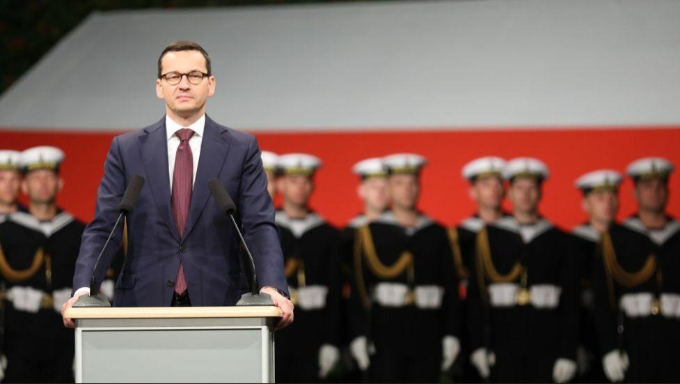 Premier Mateusz Morawiecki na Westerplatte