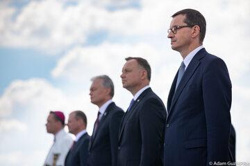 Premier Mateusz Morawiecki, prezydent Andrzej Duda