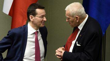Premier Mateusz Morawiecki z ojcem w Sejmie