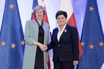 Premier Wielkiej Brytanii Theresa May i premier Polski Beata Szydło w Warszawie, 28 lipca