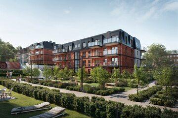 Prestiżowa inwestycja Młyny Gdańskie powstaje przy ulicy Malczewskiego, niecałe 2 km od Śródmieścia, łączy zalety mieszkania w centrum miasta z ciszą zielonej enklawy.
