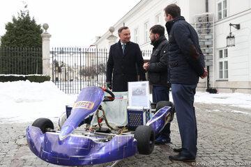 Prezentacja polskiej myśli technologicznej na dziedzińcu Pałacu Prezydenckiego