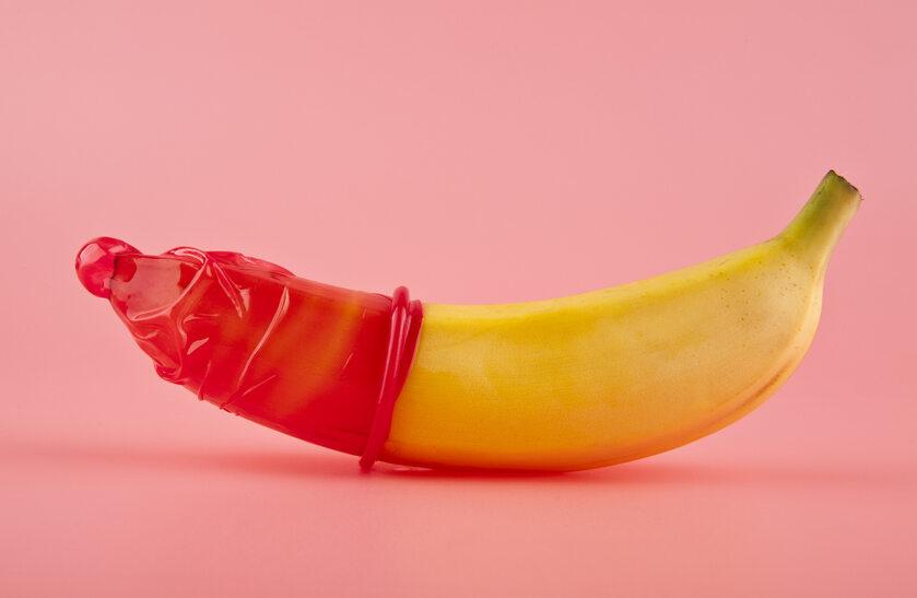 Prezerwatywa na bananie