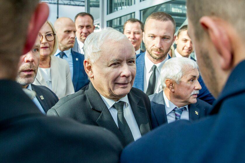 Prezes PiS Jarosław Kaczyński w Rzeszowie-Jasionce