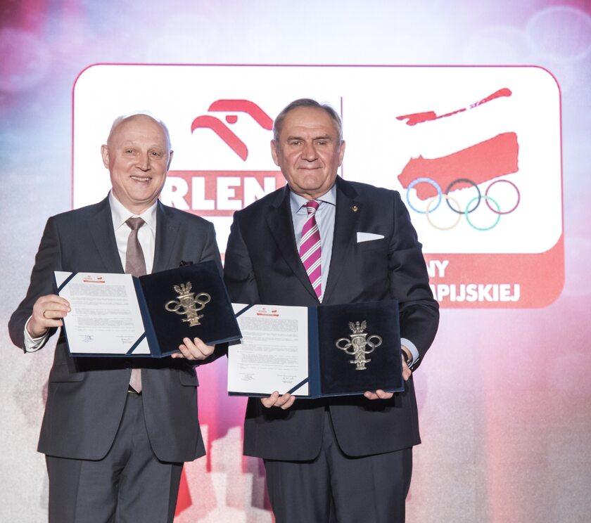 Prezes PKN ORLEN Wojciech Jasiński i prezes PKOl Andrzej Kraśnicki