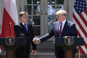 Prezydenci Andrzej Duda i Donald Trump