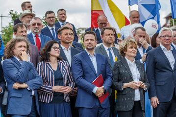 Prezydenci niektórych miast Polski, m.in. Aleksandra Dulkiewicz, Rafał Trzaskowski, Hanna Zdanowska
