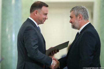 Prezydent Andrzej Duda i minister Jan Krzysztof Ardanowskich