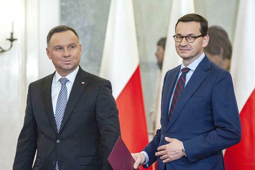 Prezydent Andrzej Duda i premier Mateusz Morawiecki
