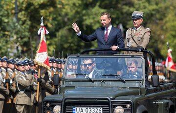 Prezydent Andrzej Duda i szef Sztabu Generalnego gen. Mieczysław Gocuł