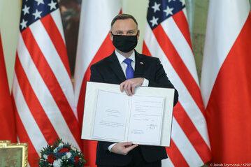Prezydent Andrzej Duda ratyfikował umowę o wzmocnionej współpracy obronnej z USA