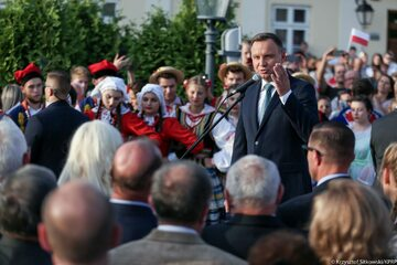Prezydent Andrzej Duda w Leżajsku