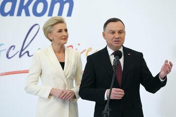 Prezydent Andrzej Duda z pierwszą damą