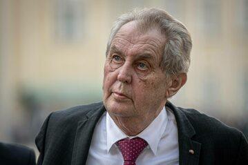 Prezydent Czech Milos Zeman