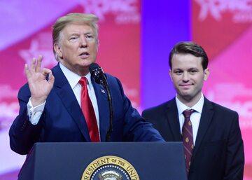 Prezydent Donald Trump i Hayden Williams na Conservative Political Action Conference
