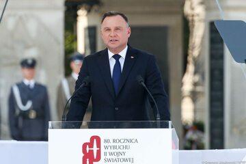 Prezydent Duda w trakcie obchodów rocznicy wybuchu II wojny światowej.