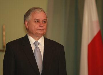 Prezydent Lech Kaczyński w 2008 r.
