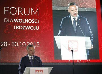 Prezydent na Forum dla Wolności i Rozwoju w 2015 roku