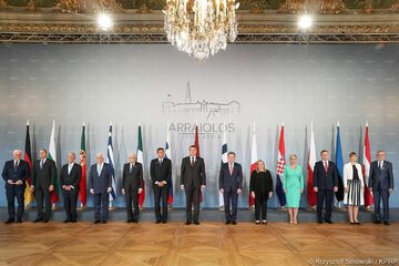 Prezydent na szczycie Grupy Arraiolos na Łotwie