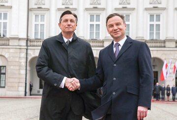Prezydent Polski Andrzej Duda i prezydent Słowenii Borut Pahor