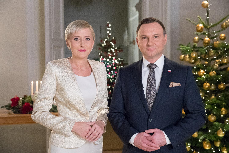 Prezydent RP Andrzej Duda i Pierwsza Dama Agata Kornhauser-Duda