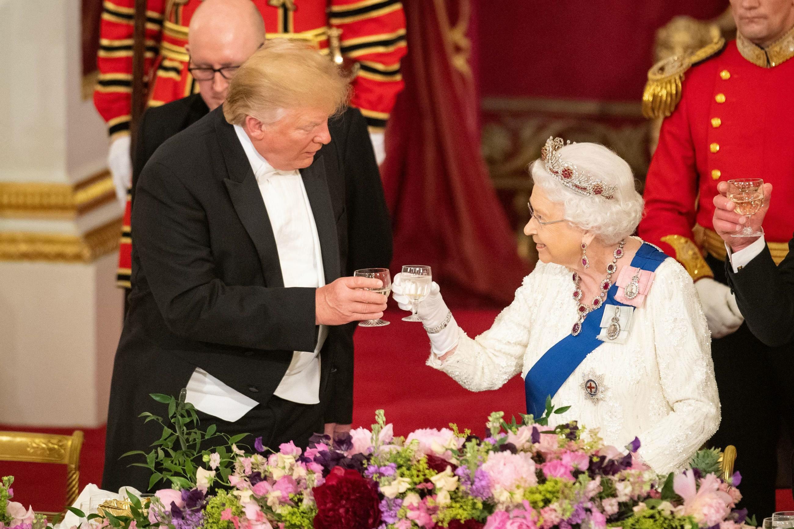 Prezydent USA Donald Trump i królowa Elżbieta II