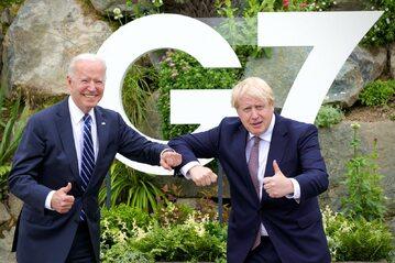 Prezydent USA Joe Biden i premier Wielkiej Brytanii Boris Johnson