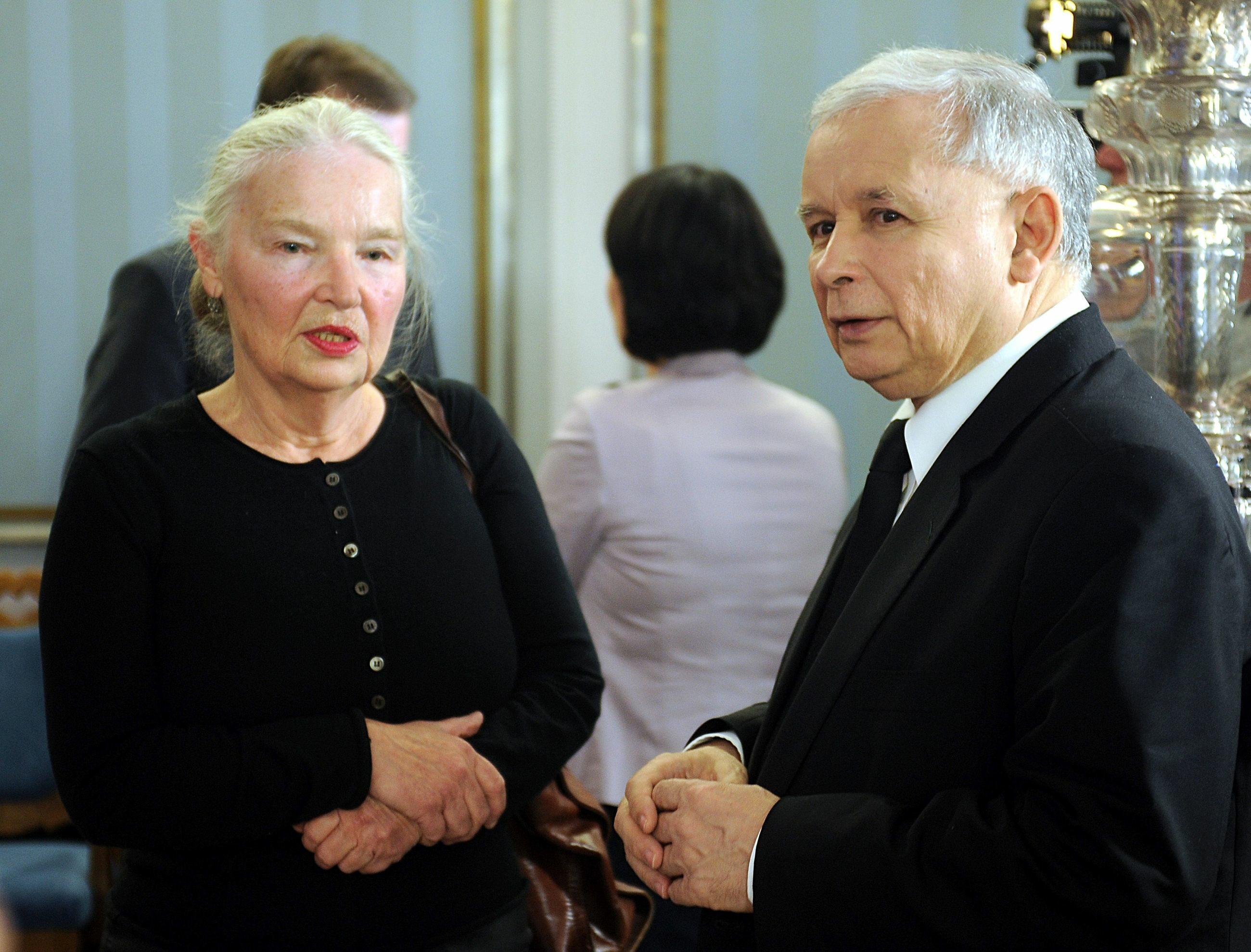 Prof. Jadwiga Staniszkis i Jarosław Kaczyński w 2012 roku