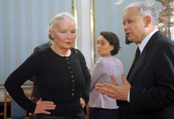Prof. Jadwiga Staniszkis i prezes PiS Jarosław Kaczyński (zdj. z 2012 roku)