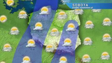 .Prognoza pogody. Kadr z nagrania
