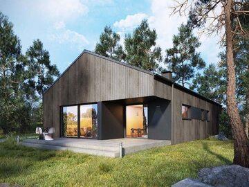Projekt domu–Studio95–wizualizacja