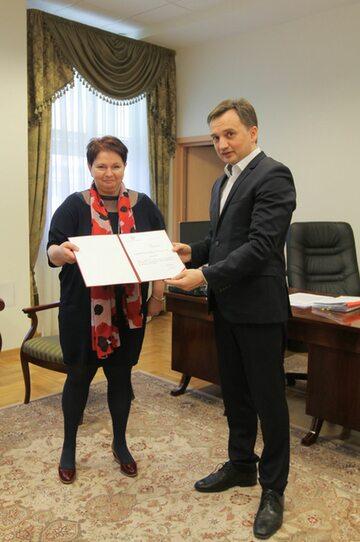 Prokurator Beata Marczak i Prokurator Generalny Zbigniew Ziobro