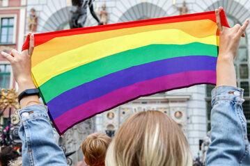 """Protest """"Jestem LGBT"""" w Gdańsku"""