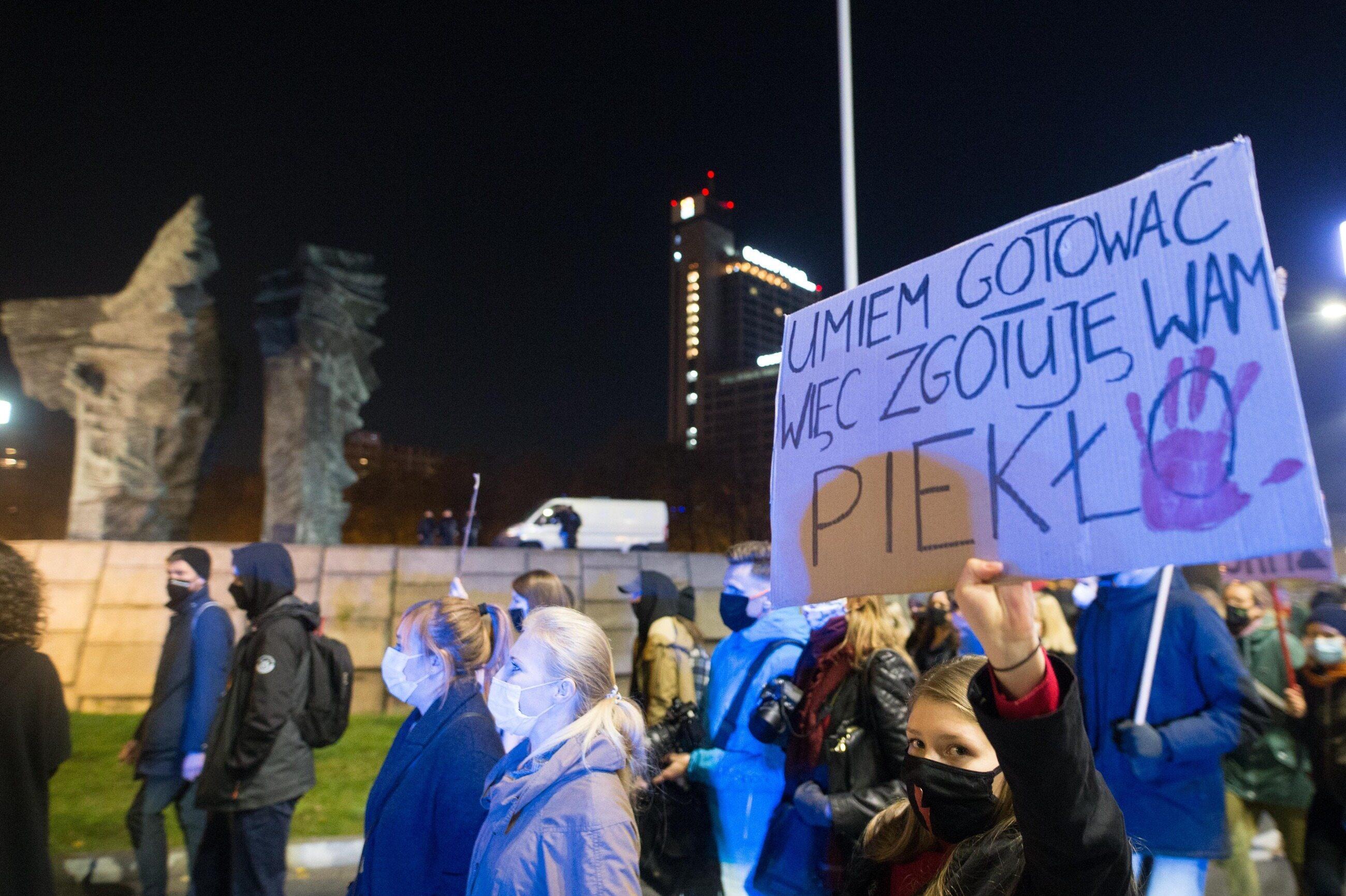 Protest kobiet w Katowicach