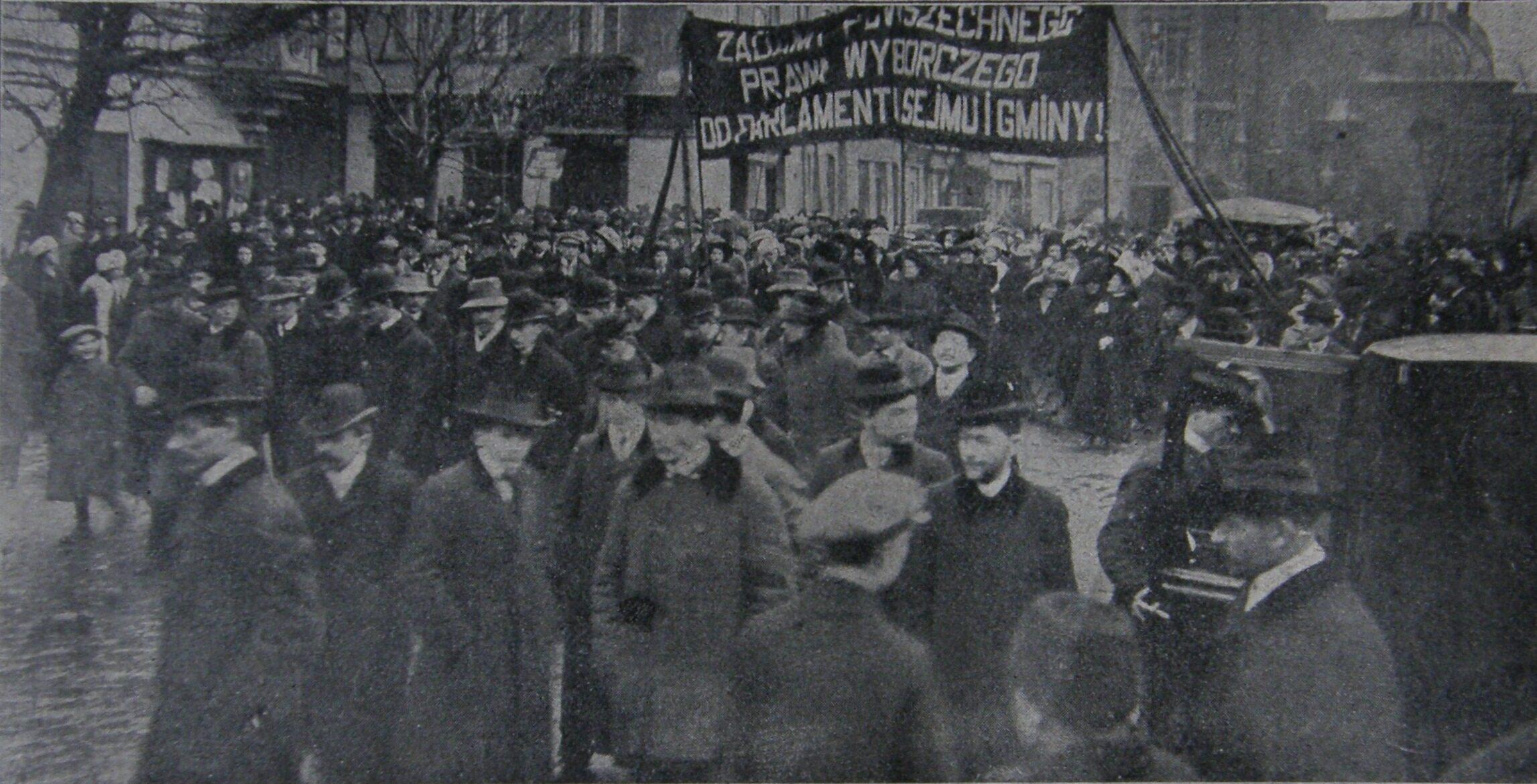 Protest krakowskich sufrażystek w 1911 roku