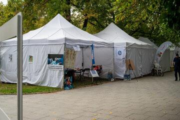 Protest medyków. Białe Miasteczko 2.0 przed Kancelarią Premiera w Warszawie