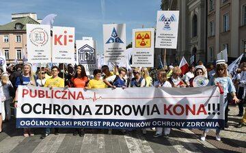 Protest medyków w Warszawie, 11 września