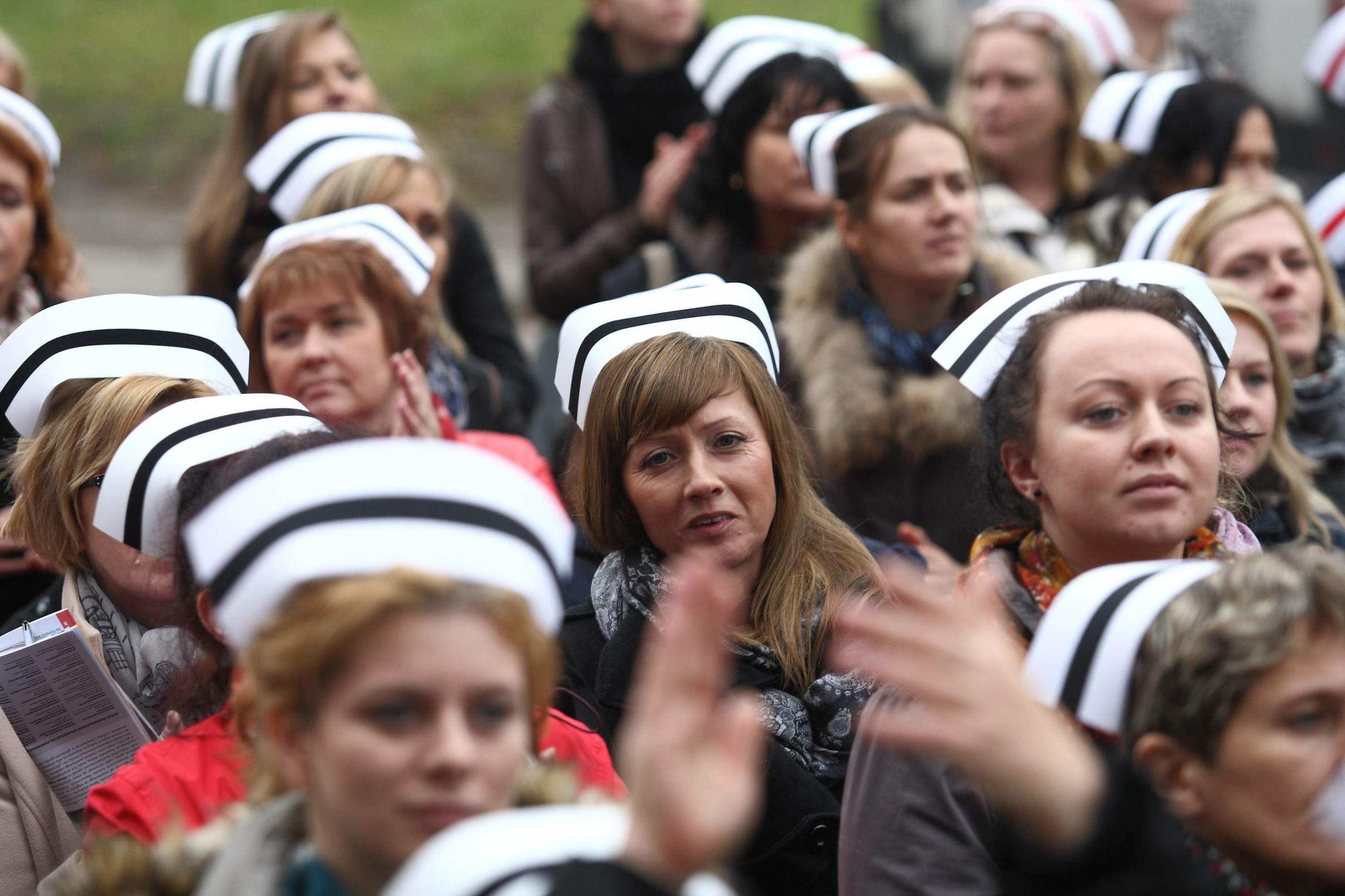 Protest pielęgniarek w Gdańsku