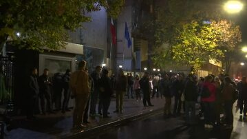 Protest pod ambasadą