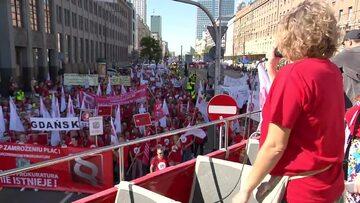 Protest pracowników sądów i prokuratur