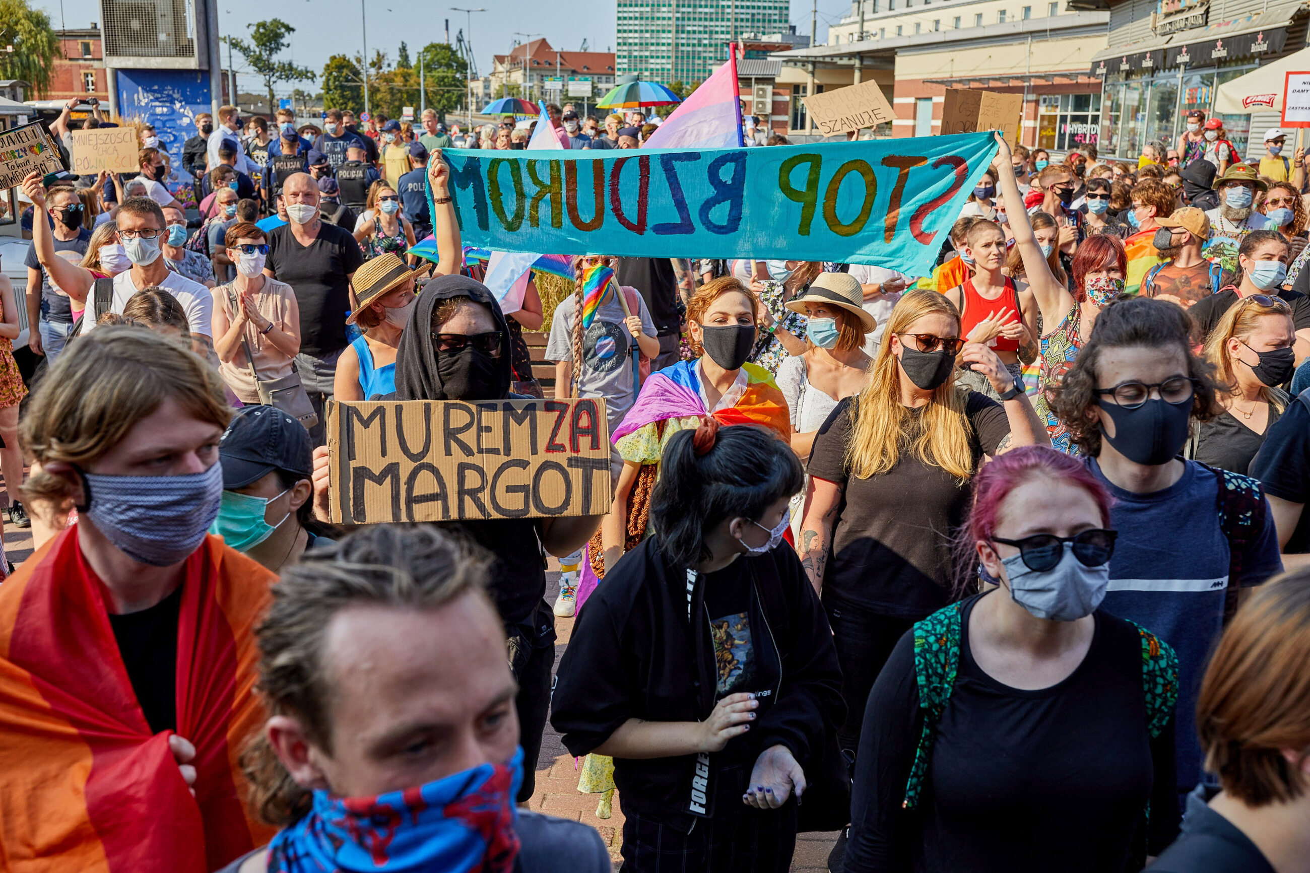 Protest przeciwko aresztowaniu Margot