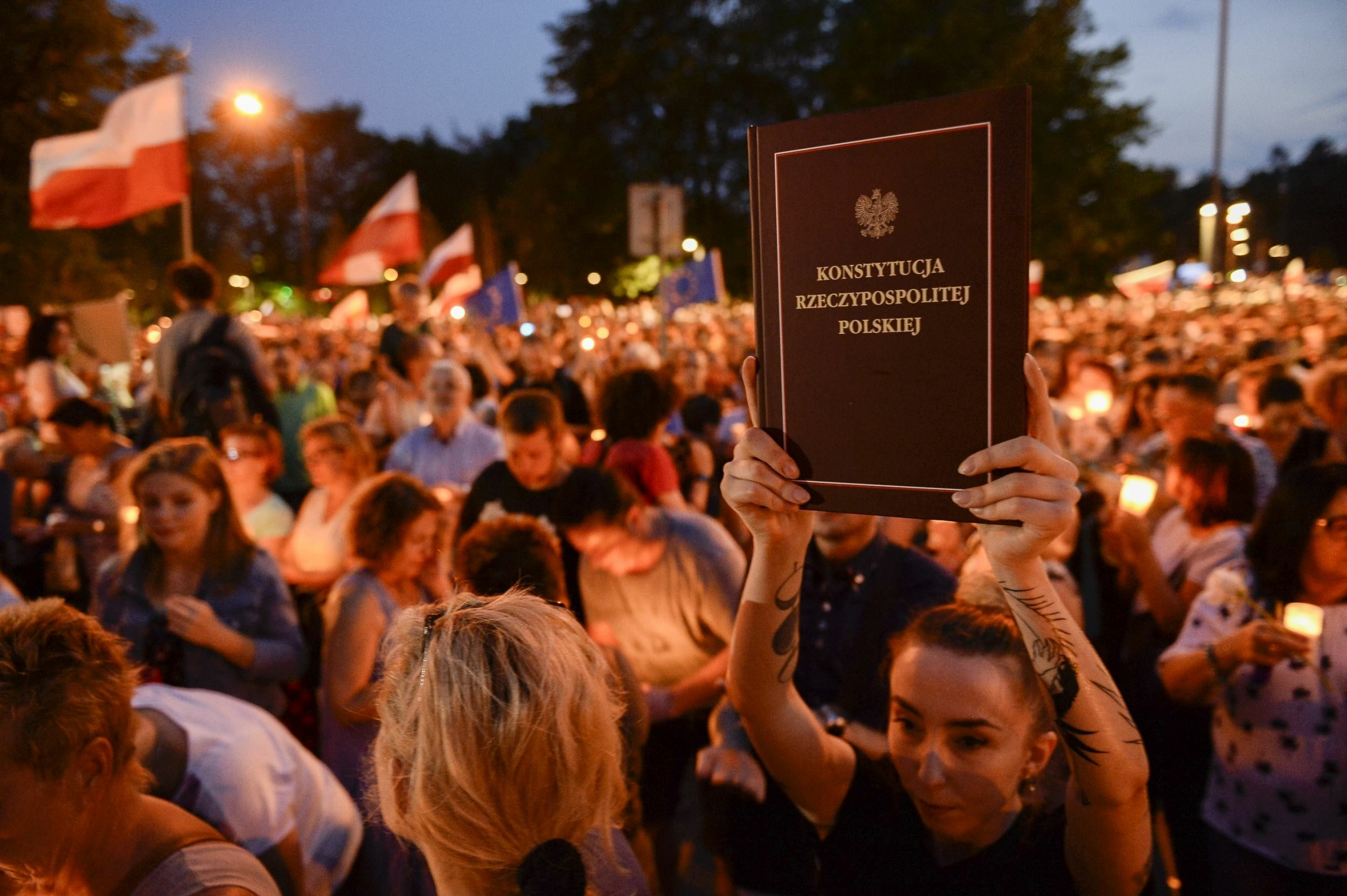 Protest przeciwko reformie sądownictwa, 20 lipca 2017 roku