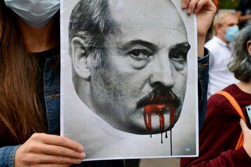 Protest przeciwko reżimowi Aleksandra Łukaszenki