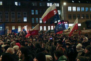 Protest przeciwko tzw. ustawie kagańcowej w Gdańsku